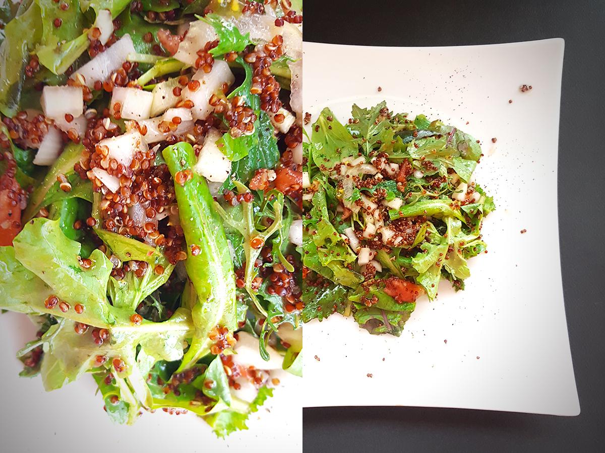 Αχνιστή σαλάτα με κινόα